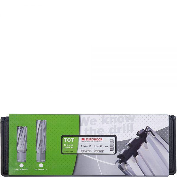 TCT.KIT_10L-M1 Euroboor TCT Annular Cutter Sets - Carbide Drill Bit Set