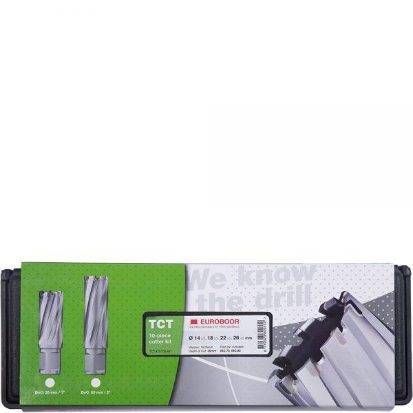 TCT.KIT_10S-M1 Euroboor TCT Annular Cutter Sets - Carbide Drill Bit Set